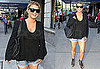Pictures of Jessica Simpson Wearing Denim Shorts in NYC