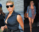 Photos of Jessica Simpson and Her Cleavage Out in New York City