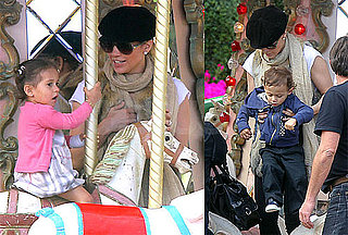 Pictures of Jennifer Lopez With Max and Emme Anthony in Monaco