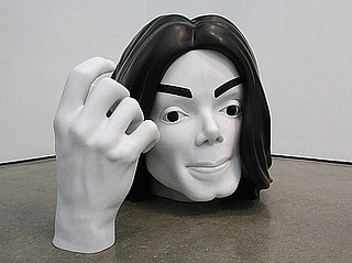 Picture of Michael Jackson Sculpture at Marc Quinn Exhibit