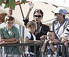 Picture Slide of David, Victoria, Brooklyn, Romeo And Cruz Beckham at a Jonas Brothers Concert in LA