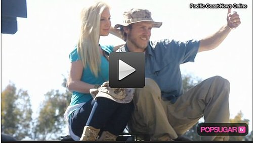 Video: Heidi Montag and Spencer Pratt Climb Around Tanks and Take Orders