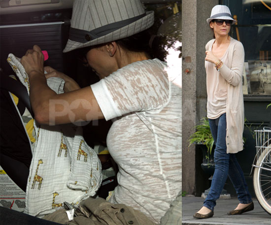 Pictures of Sandra Bullock and Baby Louis