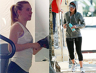 Pictures of Scarlett Johansson Leaving the Gym in LA