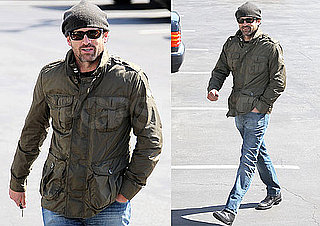 Pictures of Patrick Dempsey Driving Around LA in a Vintage Car