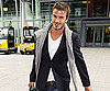 Slide Picture of David Beckham Arriving at Heathrow in London