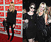 Kate Bosworth Attends Ray Ban Party Wearing Black Lace Tank and Black Leather Bag