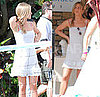 Pictures of Jennifer Aniston on Set