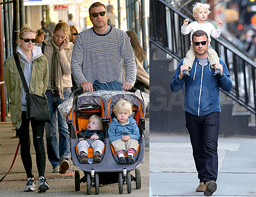 Pictures of Naomi Watts and Liev Schreiber Walking Together in NYC
