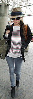 Rachel Bilson Wears Stripes Through LAX