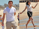 Pictures of John Krasinski and Ginnifer Goodwin on the Beach Filming Something Borrowed