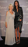 How adorable are Helen Mirren (in Elie Saab) and Liya Kebede?