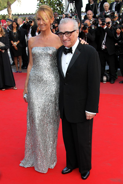 Martin Scorsese's tux is the perfect match to Frida Giannini's Gucci sparkler.