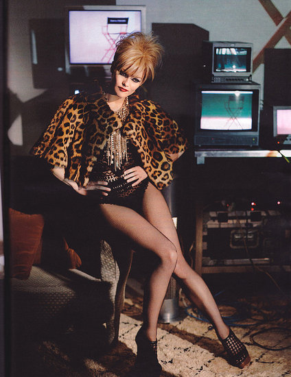 Here is another photo taken by Karl. Vanessa looks dangerous in leopard.