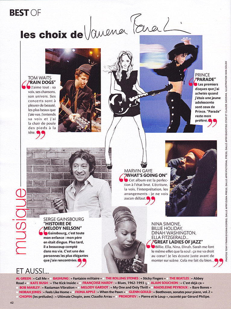 Among Vanessa's idols are Prince, Serge Gainsbourg, Nina Simone, Marvin Gaye, and Tom Waits.