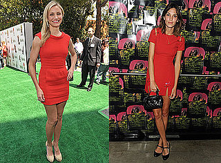 Photos of Alexa Chung and Cameron Diaz in Little Red Dresses