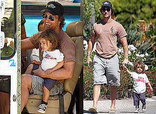 Pictures of Matthew and Levi McConaughey in Malibu