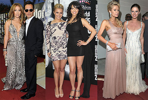 Pictures of Jennifer Lopez, Marc Anthony, and Paris Hilton at the 2010 World Music Awards 2010-05-18 21:30:02