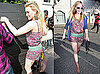 Pictures of Hilary Duff Wearing a Romper and Carrying an iPad in LA