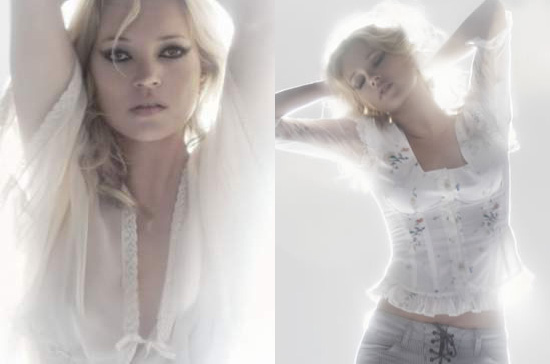 Photos of Kate Moss Modeling her 12th Topshop Collection for Summer 2010