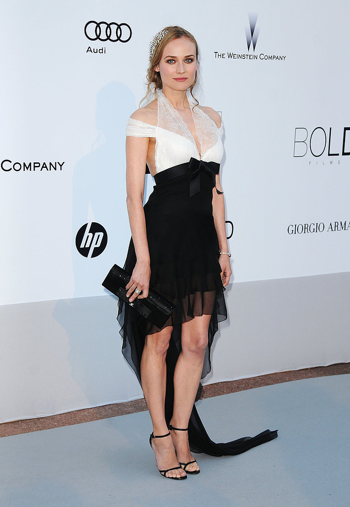 Diane Kruger working one of her favorite color combos: black and white.
