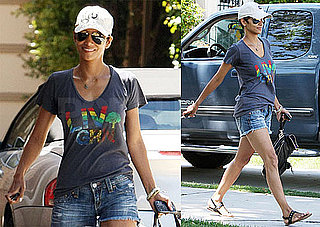 Pictures of Halle Berry in Short Shorts in LA 2010-05-23 07:00:00
