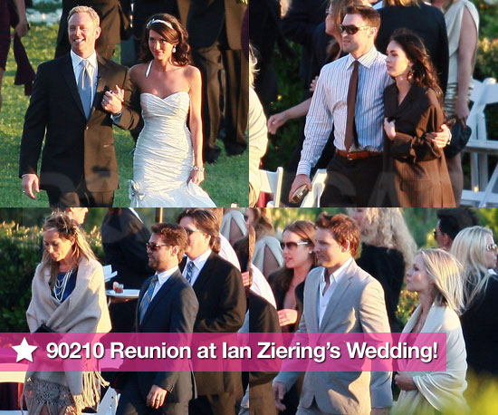 It's a 90210 Reunion at Ian Ziering's Beautiful Wedding!