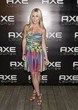 Tinsley Mortimer attended an Axe event in South Hampton in a multicolored strapless dress and tan sandals. You think there's any color missing from her frock?!