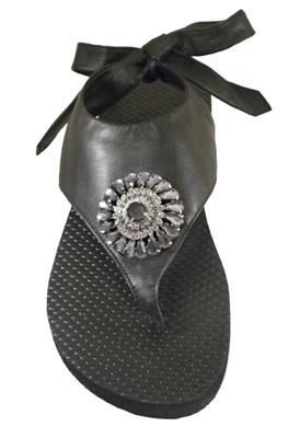 Womens Leather Flip Flops - Jamie Kreitman