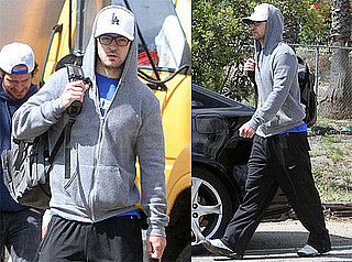 Pictures of Justin Timberlake in Sweatpants in LA