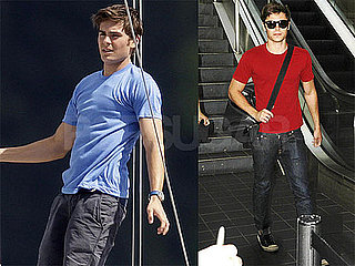 Pictures of Zac Efron on the Set of Charlie St. Cloud and Returning to LA