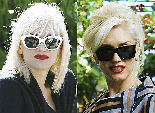 Photos of Gwen Stefani with a Fringe Hair Cut