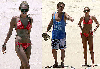 Pictures of Miley Cyrus in a Bikini in Mexico with Billy Ray Cyrus