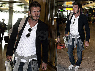 Pictures of David Beckham at Heathrow Airport After His Trip to Afghanistan