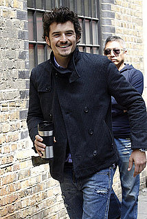 Pictures of Orlando Bloom Filming Scenes in London