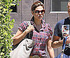 Slide Picture of Eva Mendes Leaving the Gym in LA