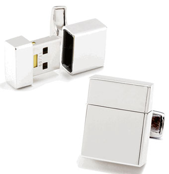 2GB USB Flash Drive Cufflinks