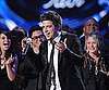 Slide Picture of Lee Dewyze Winning American Idol