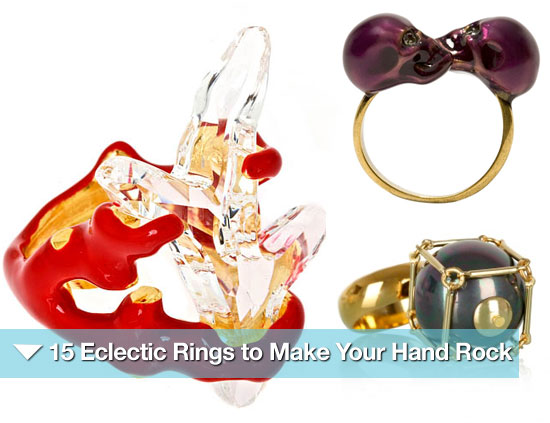 15 Eclectic Rings to Make Your Hand Rock