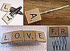 Scrabble Tile Hair Accessories