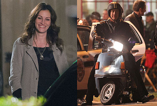 Pictures of Julia Roberts and Tom Hanks Filming Larry Crowne