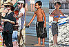 Pictures of Brad Pitt, Angelina Jolie, Maddox and Pax Jolie-Pitt Playing in the Ocean