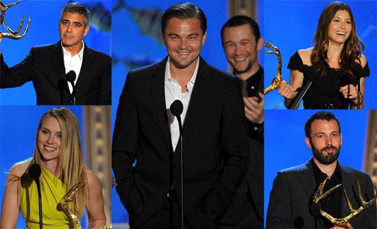 Photos of Sandra Bullock, Leonardo Dicaprio, Ben Affleck and Scarlett Johansson at the 2010 Spike Guys Choice Awards