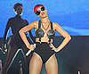 Slide Picture of Rihanna Performing in Madrid