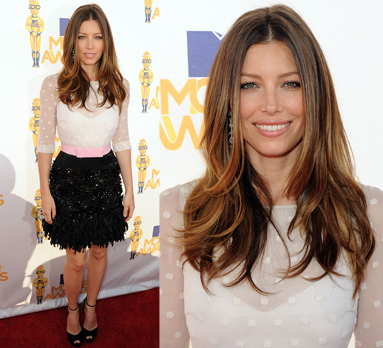 Jessica Biel at 2010 MTV Movie Awards 2010-06-06 18:15:54