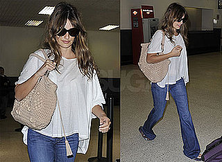 Pictures of Penelope Cruz at LAX