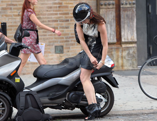 Celebrity Riding a Vespa