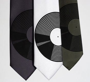 Vinyl Record Neck Tie