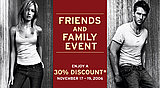 Friends and Family Discounts: Levi's Store