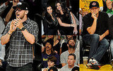 Pictures of Justin Timberlake And Leonardo DiCaprio at a Lakers Game